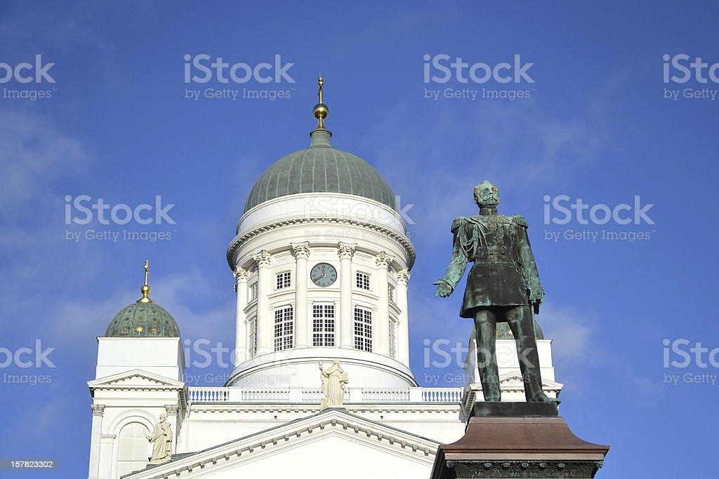 Statue of Russian czar Alexander II, Helsinki stock photo