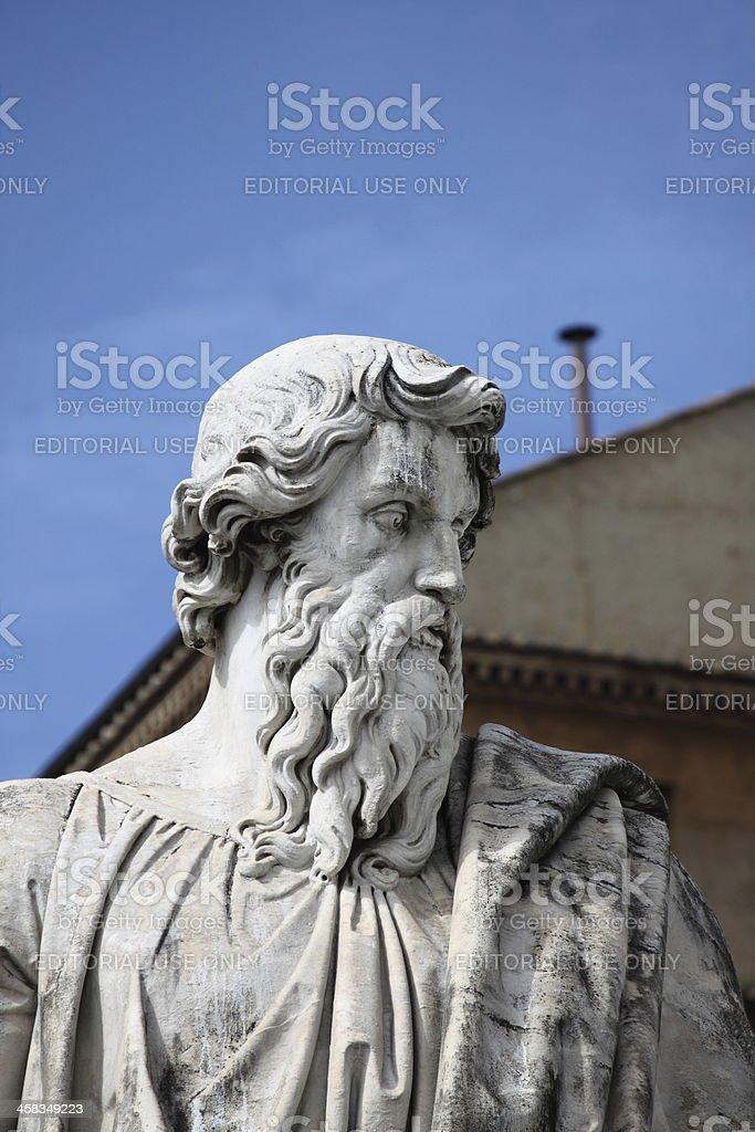 Statue of Saint Paul the Apostle stock photo