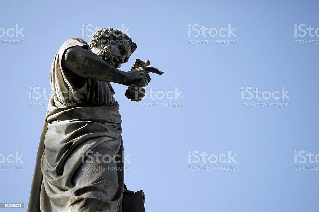 Statue of Saint Peter in the Vatican royalty-free stock photo