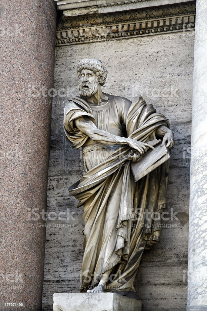 statue of Saint Peter royalty-free stock photo