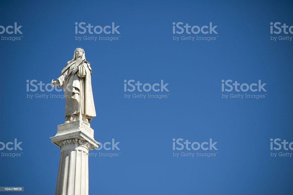 Statue of Saint Teresa in Avila (Spain) stock photo