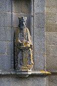 Statue of Saint Tugen chapel in Primelin