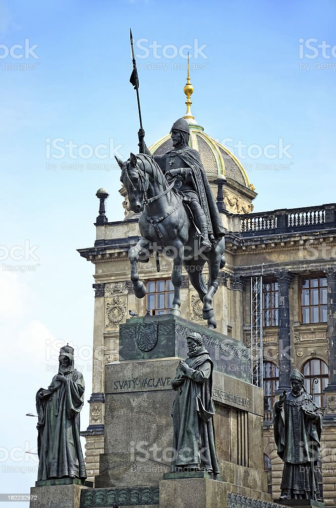 Statue of Saint Wenceslas, Prague stock photo