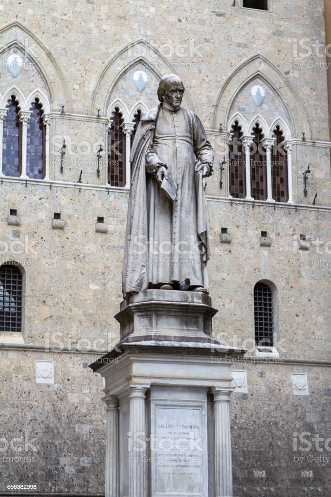 Statue of Sallustio Bandini, Siena, Italy stock photo