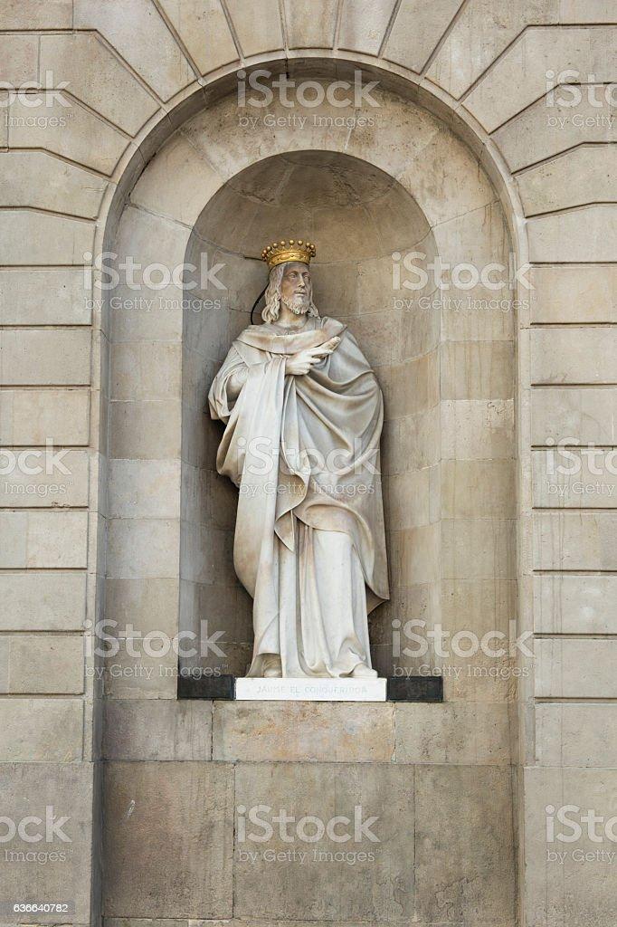 Statue of Sant Jaume (Saint James) the Conqueror stock photo