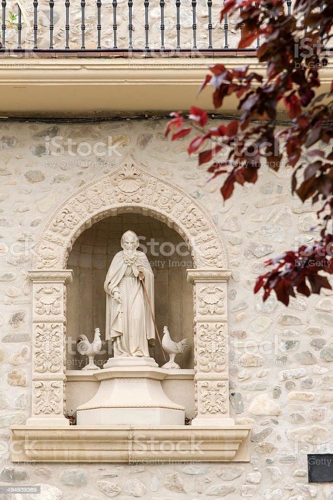 Statue of Santo Domingo de la Calzada. stock photo