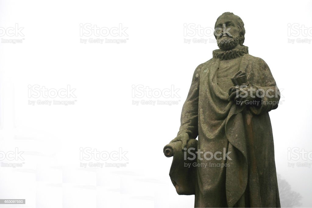 Statue of Scottish Theologian and Reformer Alex Henderson stock photo