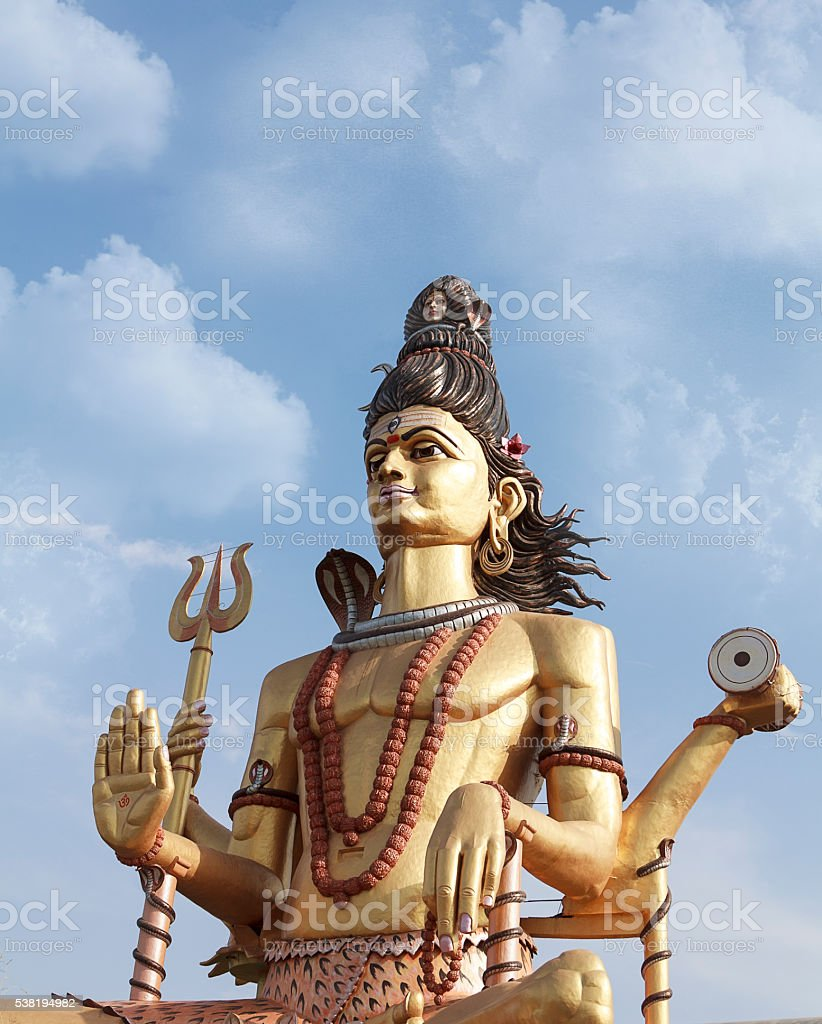 statue of shiva stock photo