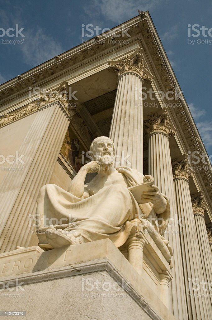 Statue of sitting philosopher royalty-free stock photo