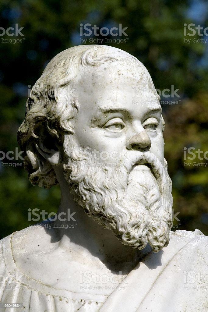 Statue of Socrates. stock photo