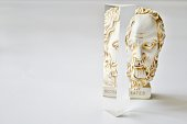 Statue of Socrates with crystal prism