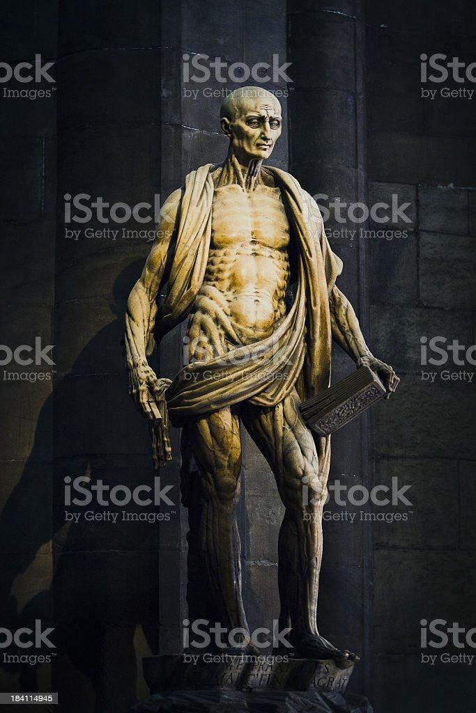 Statue of St. Bartholomew stock photo
