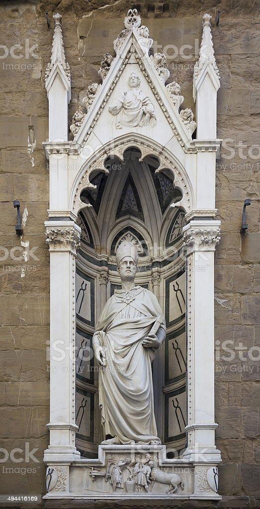 Statue of St. Eligio, the sculptor Nanni di Banco. royalty-free stock photo
