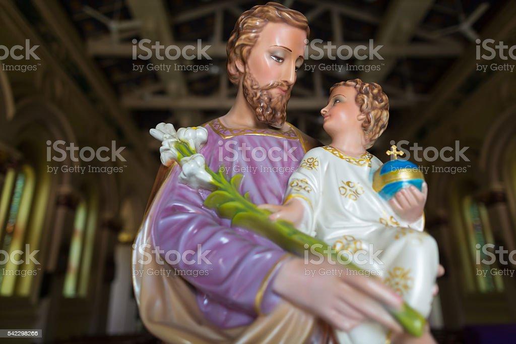 Statue of st Joseph stock photo
