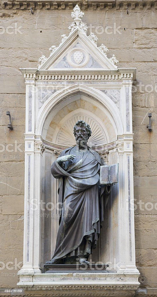 Statue of St. Matteo, the sculptor Ghiberti. royalty-free stock photo