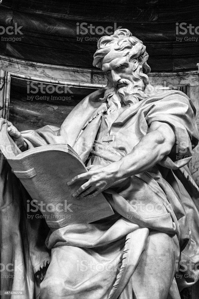 Statue of St. Matthew stock photo