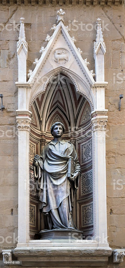 Statue of St. Stephen, the sculptor Ghiberti. stock photo