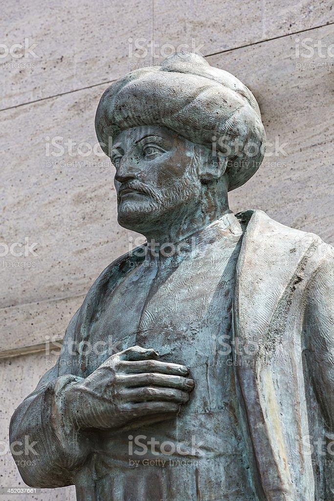 Statue of Suleiman the Magnificent, Edirnekapi, Istanbul, Turkey stock photo