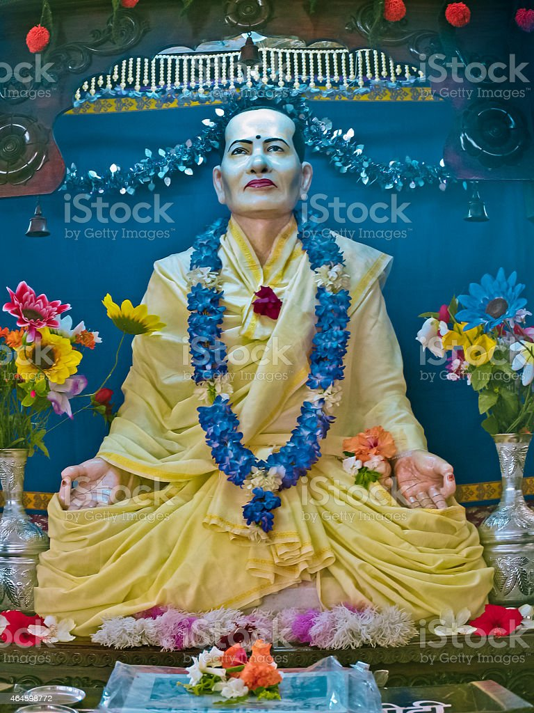 Statue of Swami Swarupanand stock photo