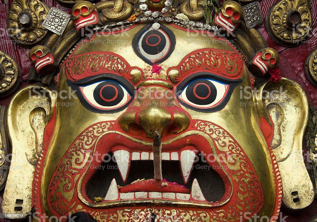 Statue of Swet Bhairab at Hanumandhoka royalty-free stock photo