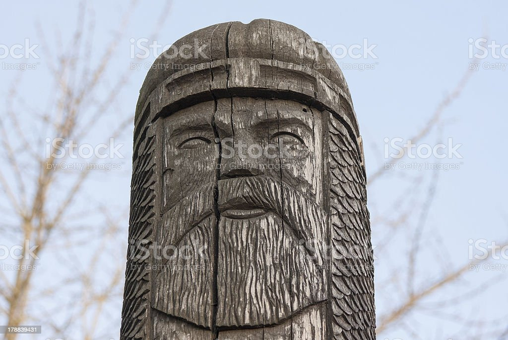 statue of the ancient Slavic god stock photo