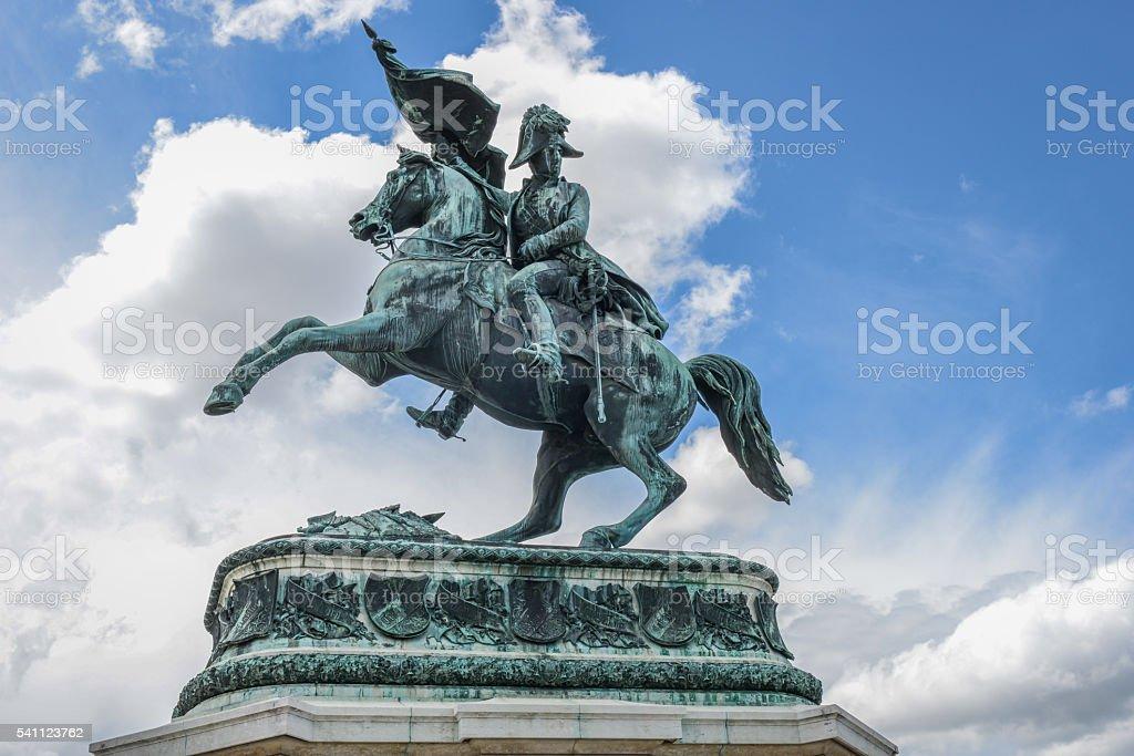 Statue of the Archduke Charles of Austria, Duke of Teschen stock photo