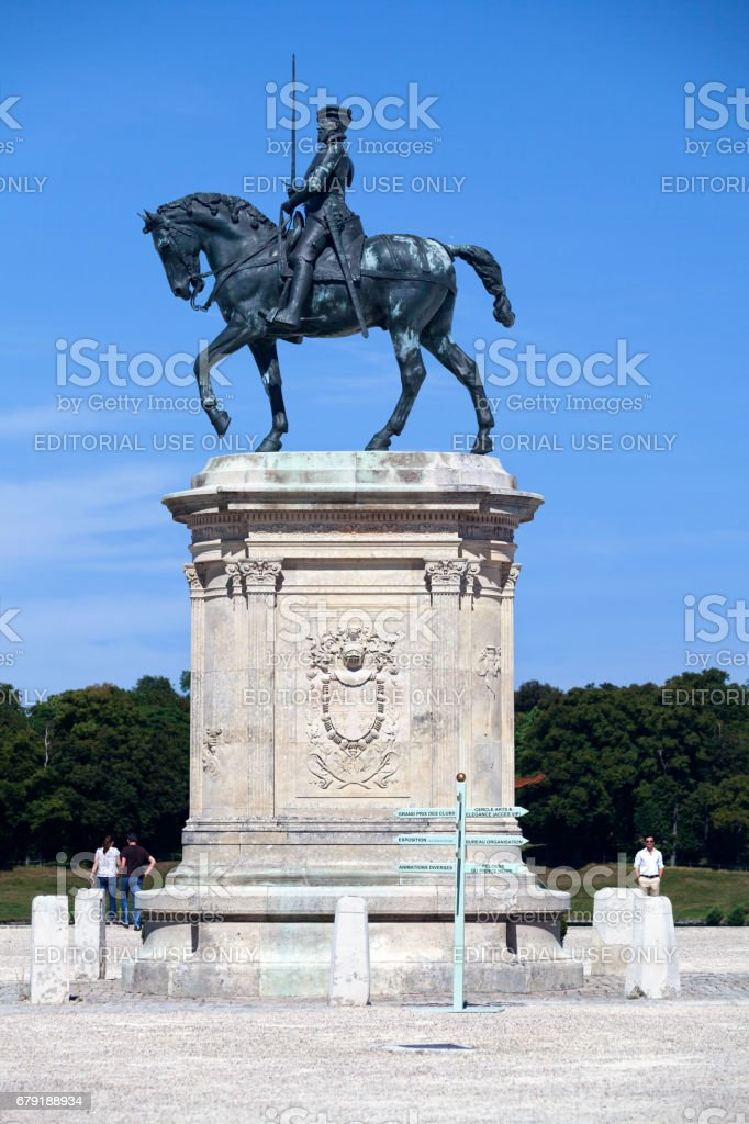 Statue of the Duke of Montmorency stock photo
