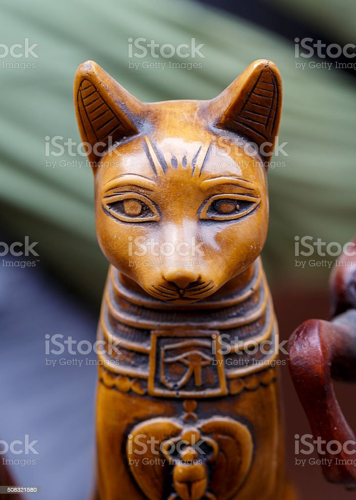 Statue of the Egyptian god cat. stock photo