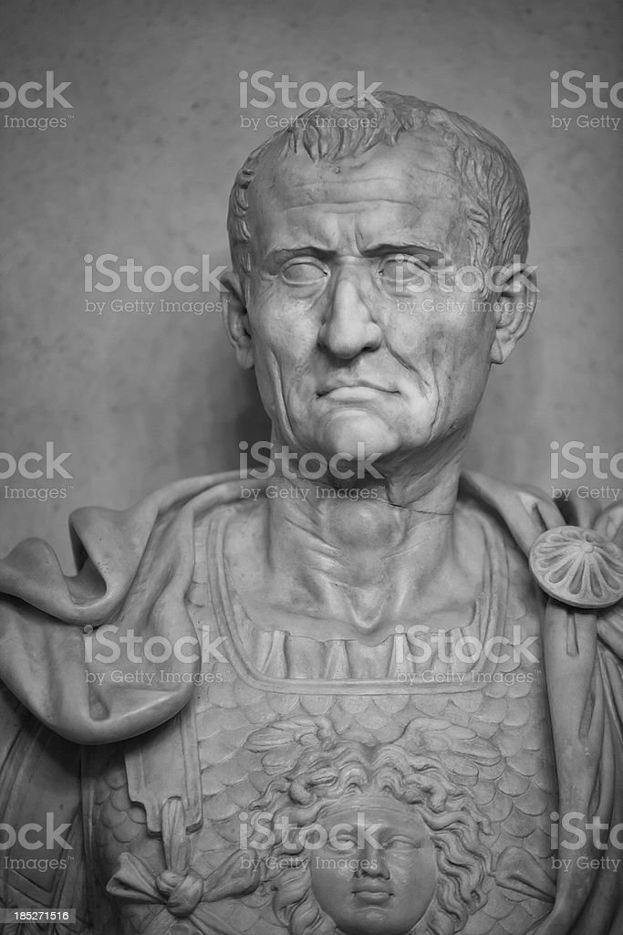 Statue of the Emperor Julius Caesar stock photo