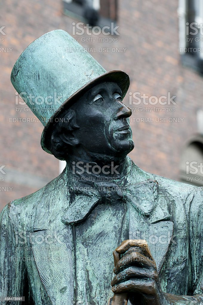 Statue of the famous Danish author Hans Christian Andersen stock photo