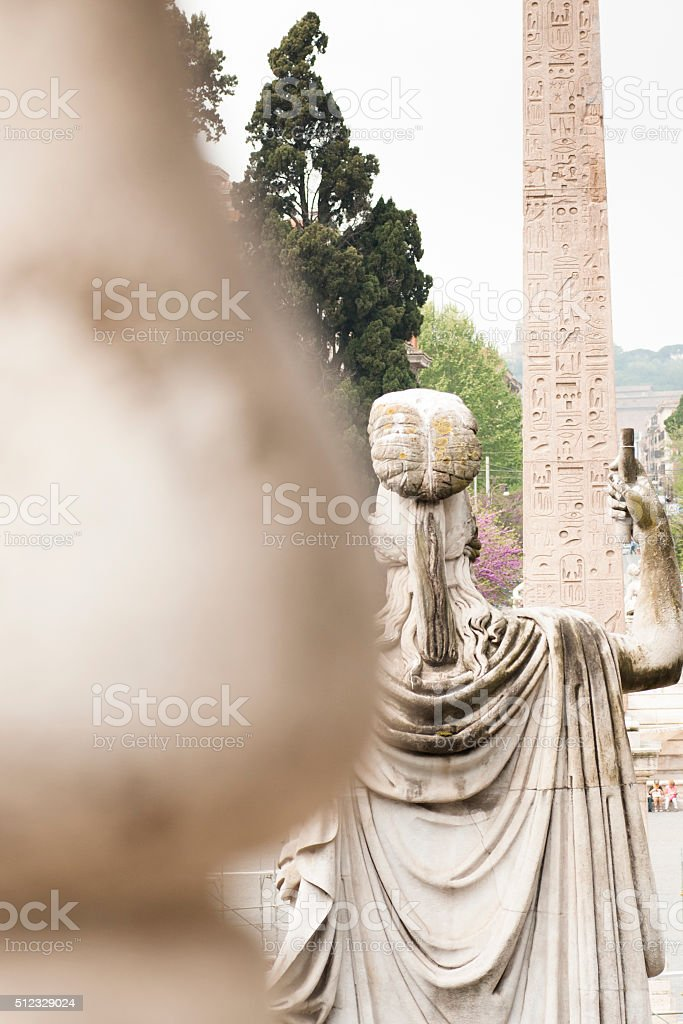 statue of the goddess Roma stock photo