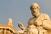 Statue of the Greek philosopher, Plato