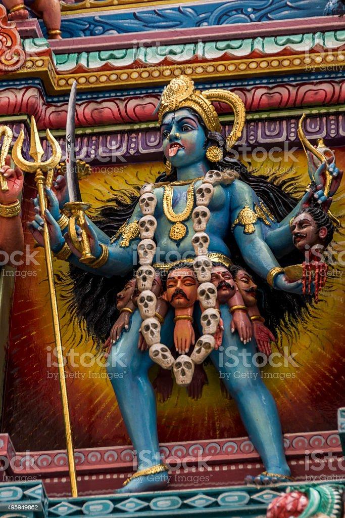 Statue of the hindu god, Kali stock photo