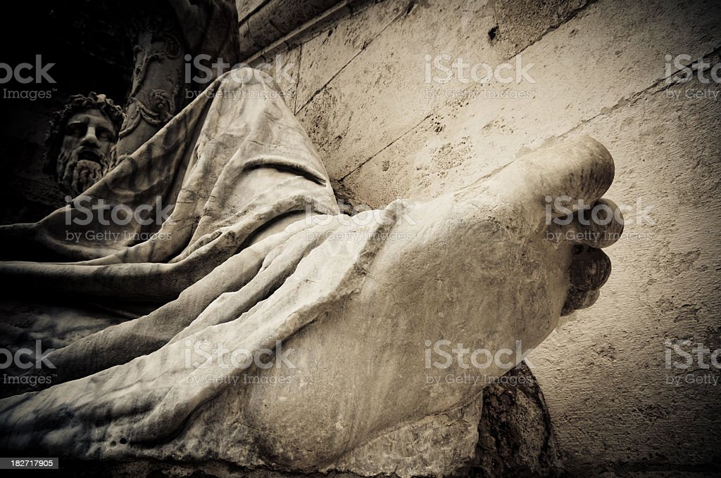 Statue of the Nile royalty-free stock photo