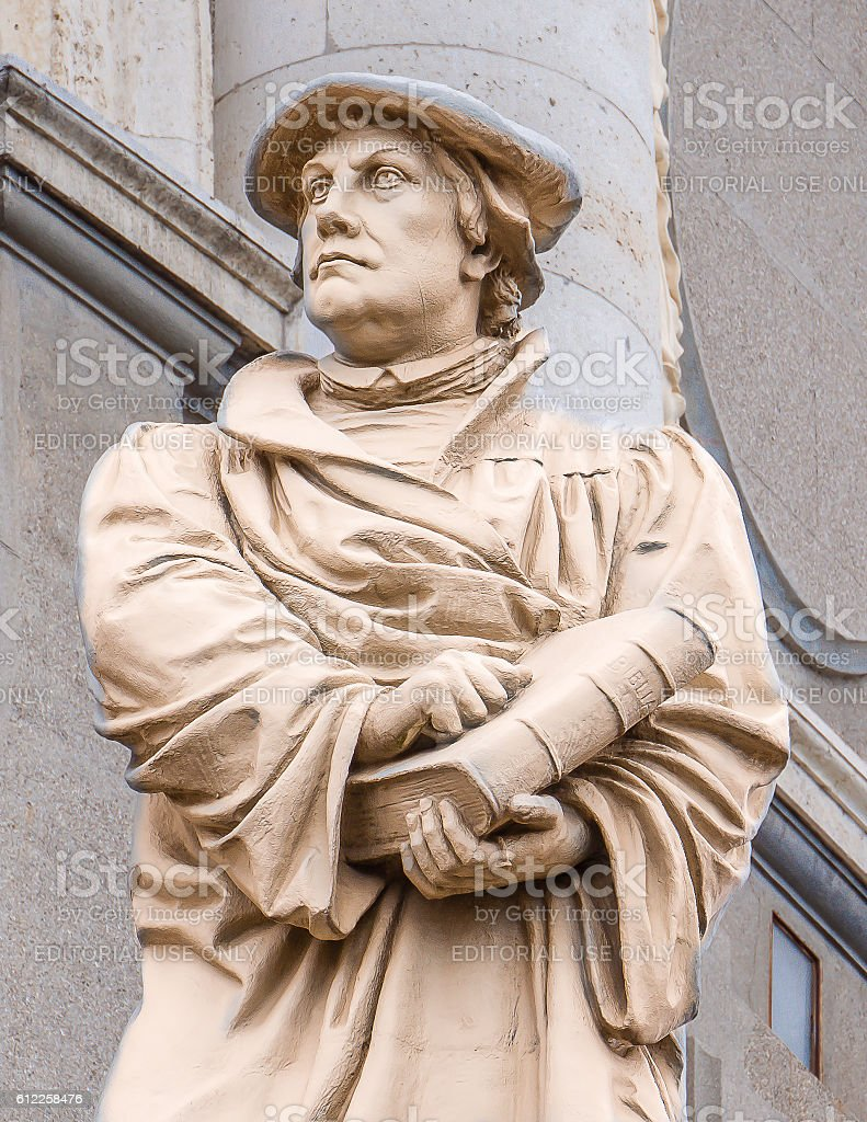 Statue of the reformer Martin Luther stock photo