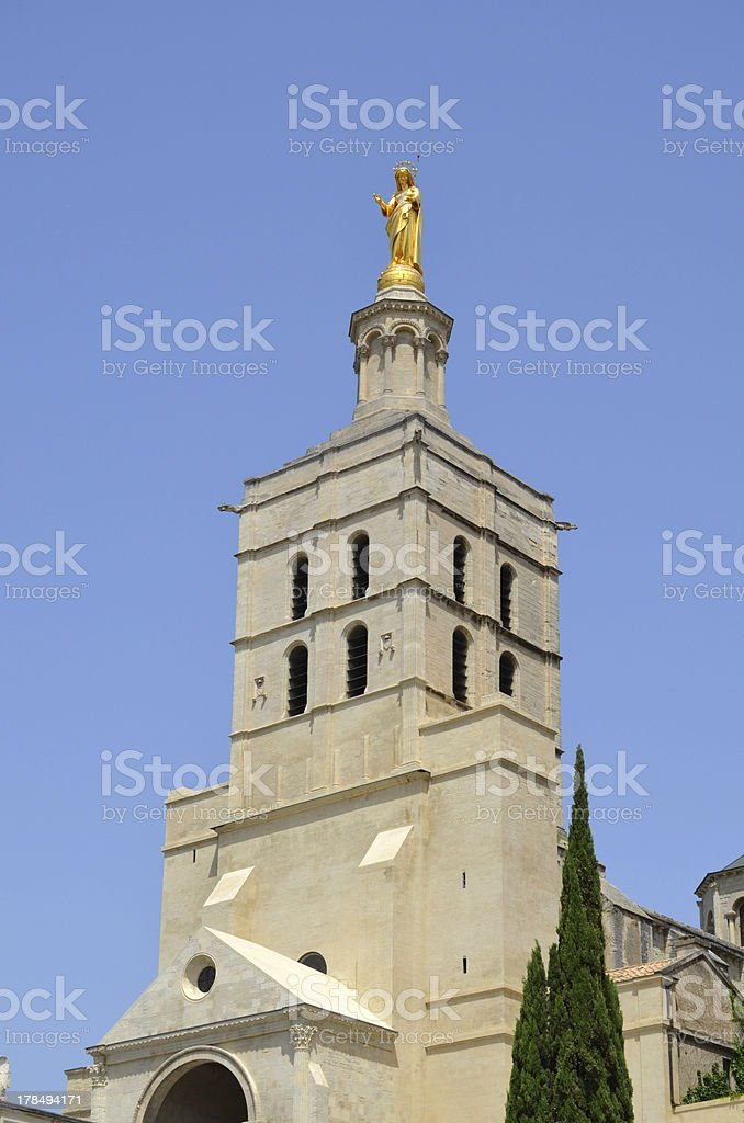 Statue of the Virgin. Palais des Papes. Avignon royalty-free stock photo