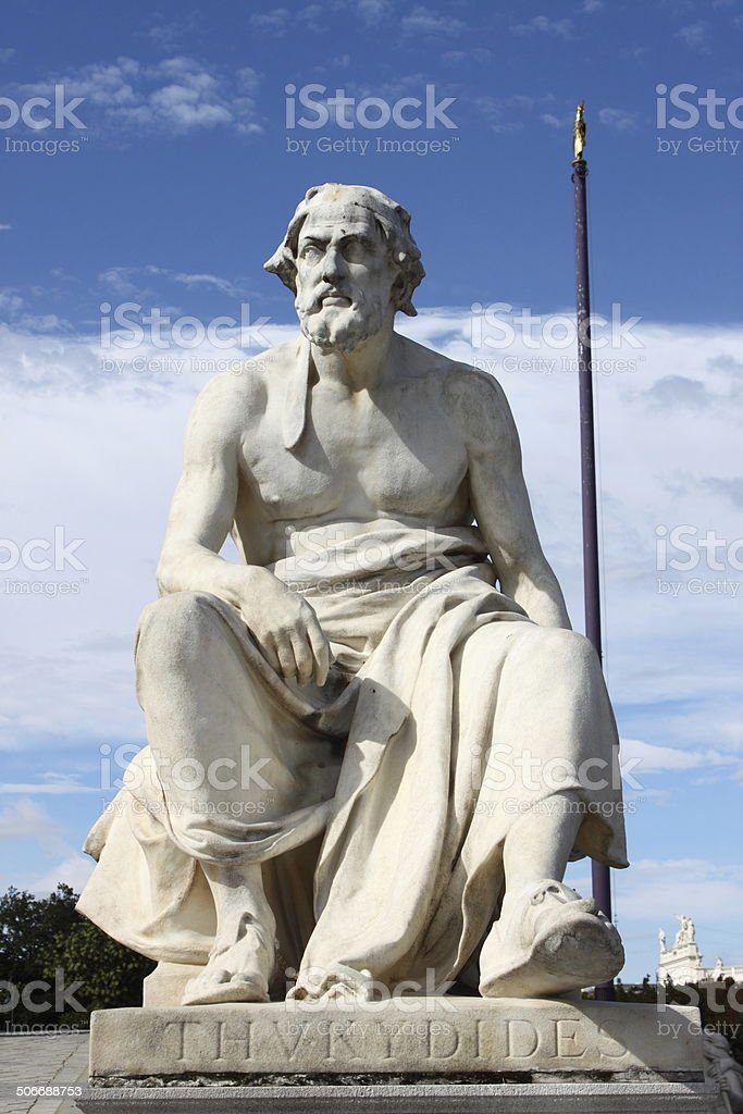 Statue of Thukydides stock photo