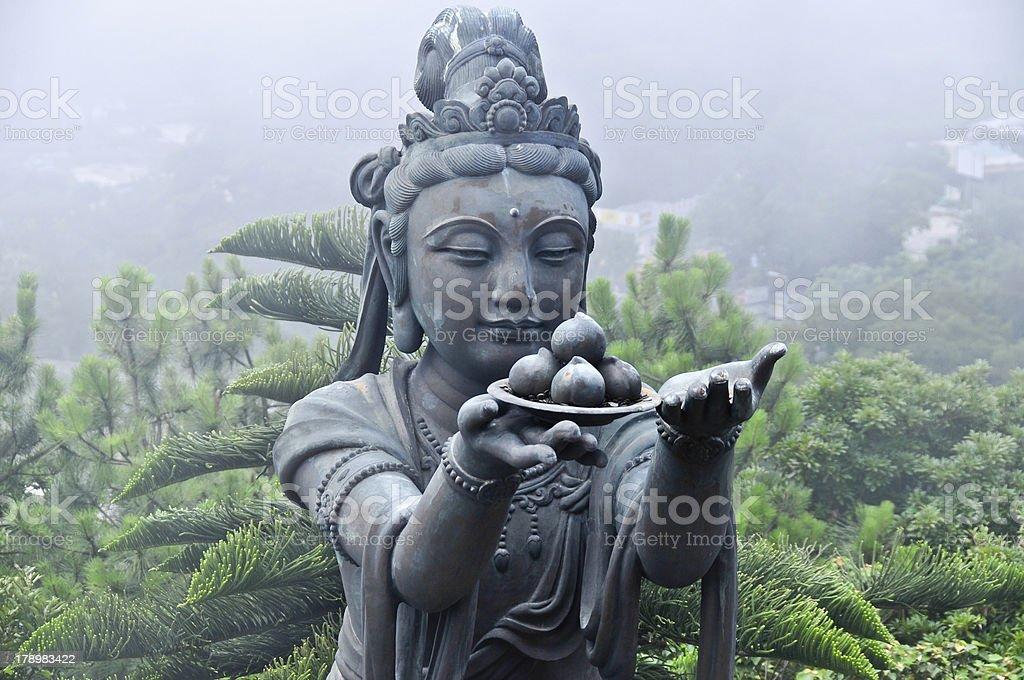 Statue of Tian Tan Buddha Complex royalty-free stock photo