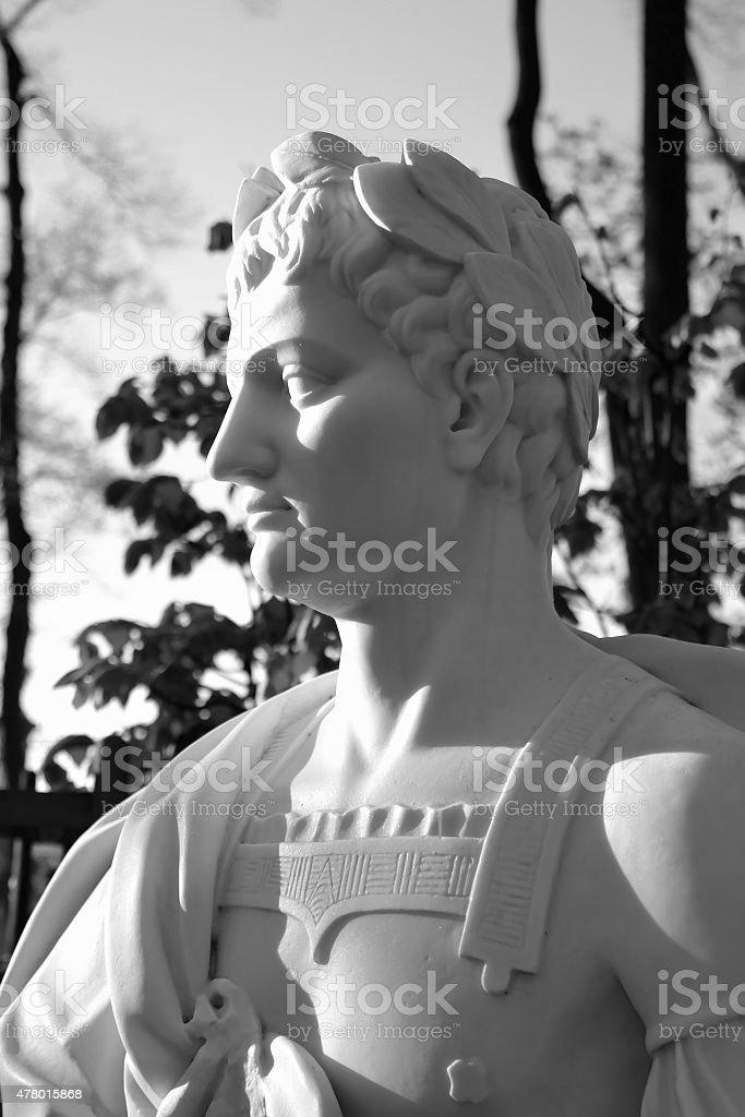 Statue of Titus Flavius Vespasianus. The Roman emperor. stock photo