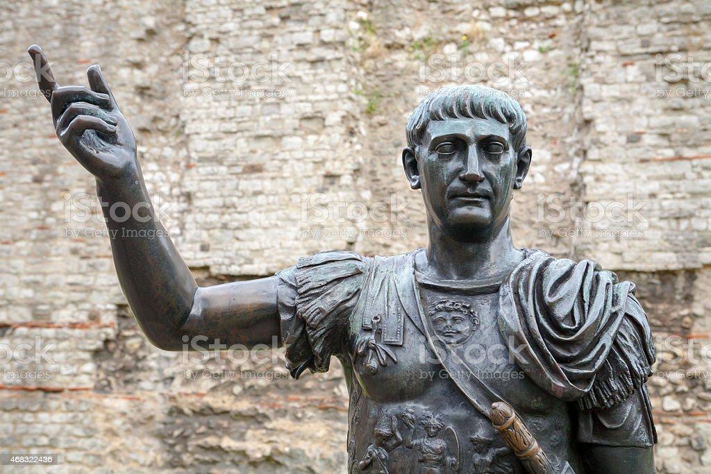 Statue of Trajan. London, UK stock photo