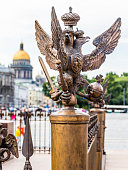 Statue of two-headed eagle