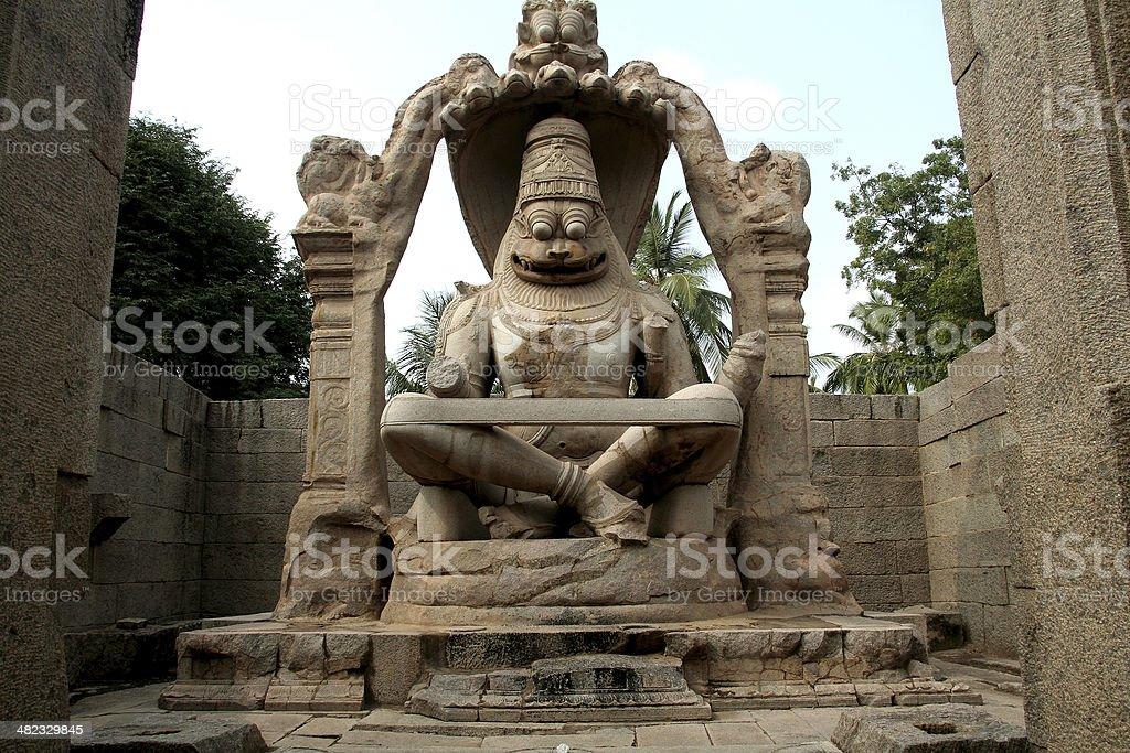 Statue of Ugranarasimha royalty-free stock photo
