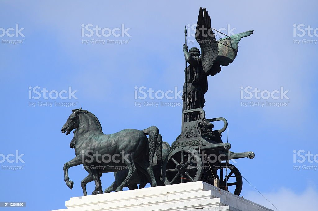 Statue of Victory driving the quadriga stock photo