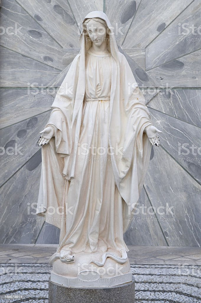 Statue of Virgin Mary royalty-free stock photo
