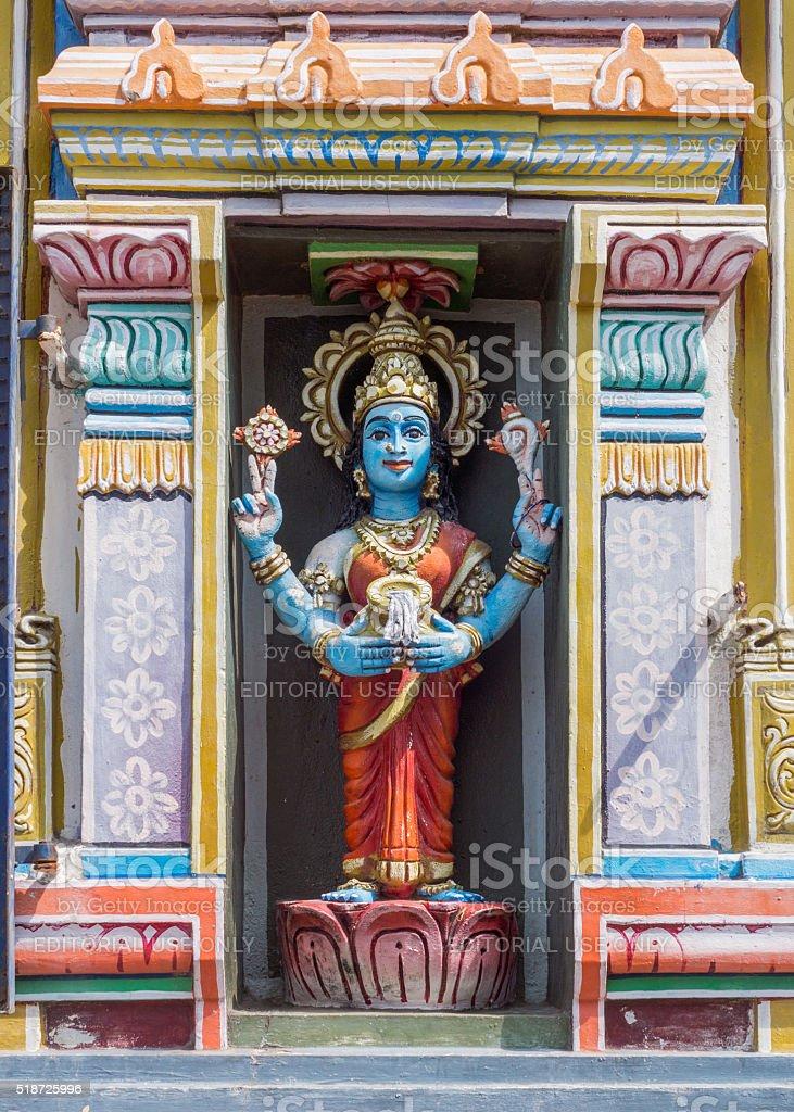 Statue of Vishnu-Durga. stock photo