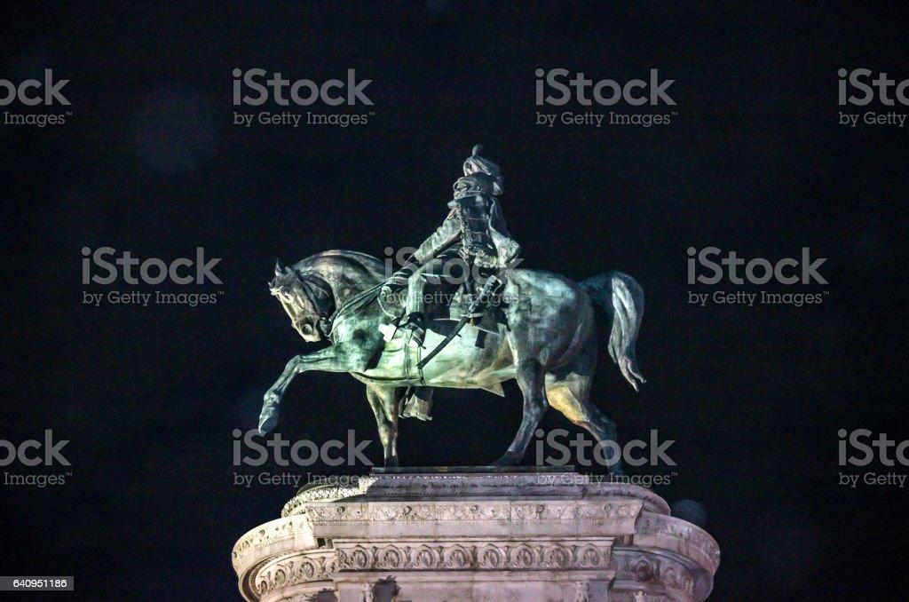 Statue Of Vittorio Emanuele stock photo