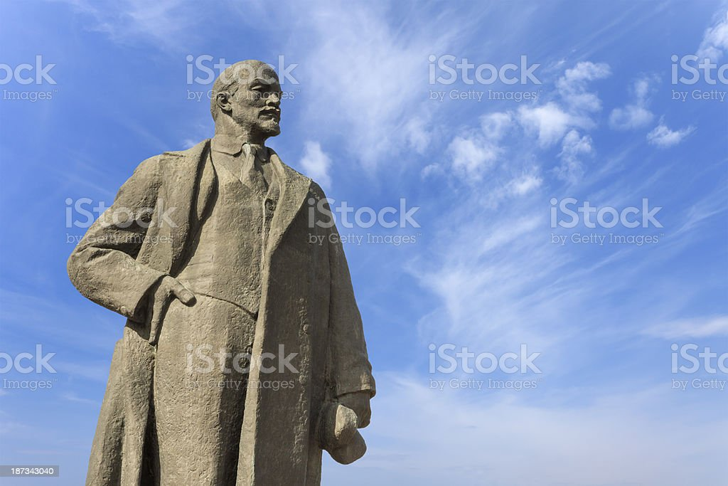 Statue of Vladimir Lenin royalty-free stock photo