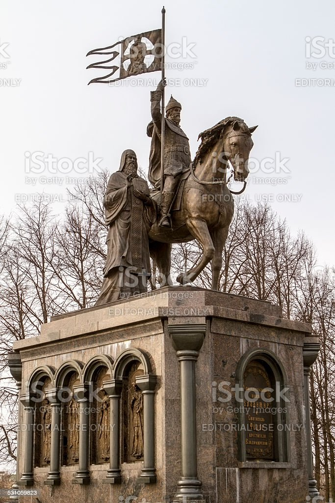 Statue of Vladimir stock photo