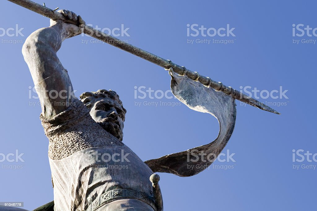 Statue of warrior royalty-free stock photo