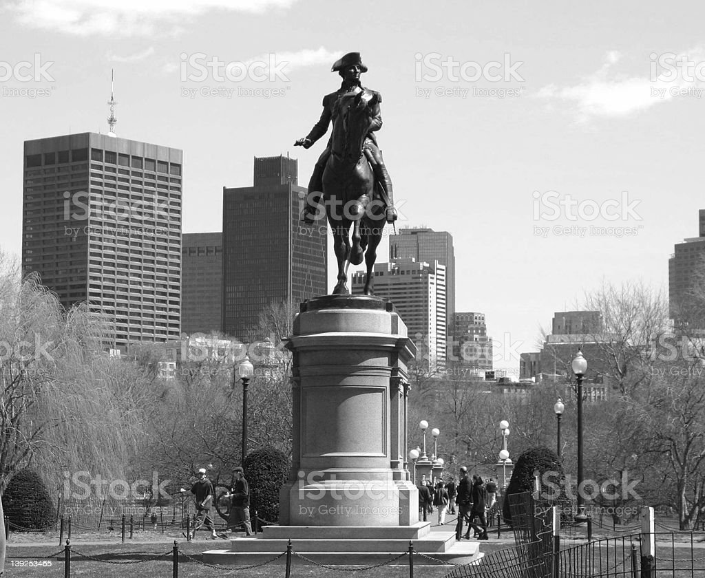 Statue of Washington royalty-free stock photo